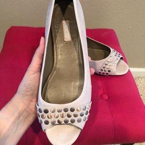 Ecco blush peep toe flat